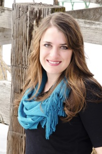 Author pic, blue scarf